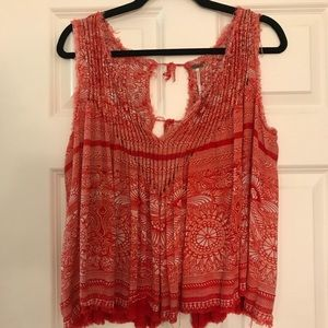 Free People Raw Edge Top
